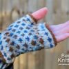 Guinevere fingerless mittens by Nicki Merrall from Being Knitterly